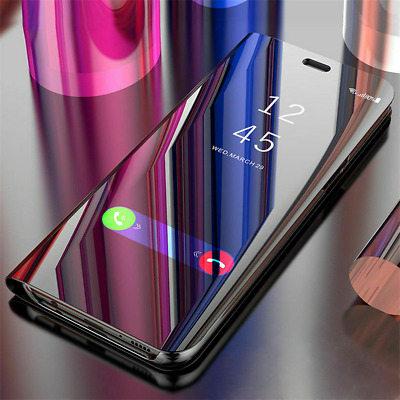 For Xiaomi Redmi GO Note 7 6 5 Pro 4X Smart Clear View Mirror Flip Case Cover