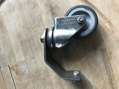 mosmatic rubber wheels & caster with bracket x3
