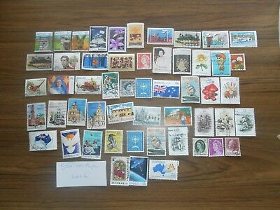 50+  used mixed AUSTRALIAN SHEET stamps off paper. Good variety. Lot 6