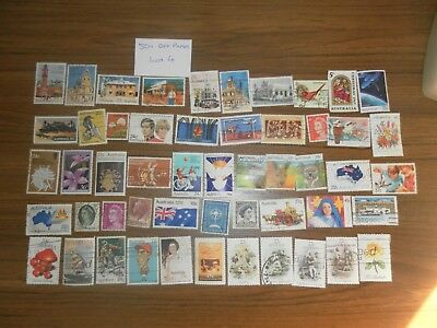 50+  used mixed AUSTRALIAN SHEET stamps off paper. Good variety. Lot 4