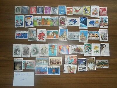 50+  used mixed AUSTRALIAN SHEET stamps off paper. Good variety. Lot 9