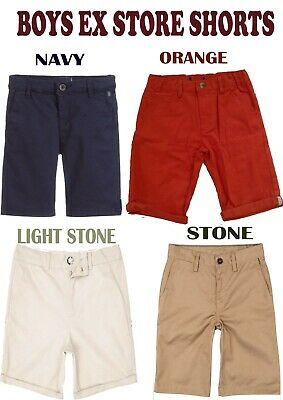 Boys Summer Chino Shorts Ex Chainstore 100% Cotton 3 Months Till 12 years