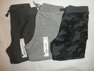 Jumping Beans Infant Boys Shorts size 24 months lot of 3 pairs grays and camo