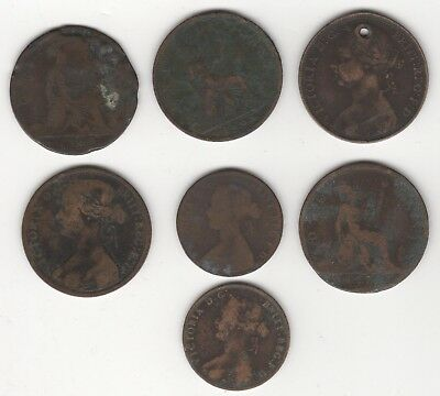 Collection Of Lower Grade Victoria Half/One Penny Coins | Bulk | Pennies2Pounds