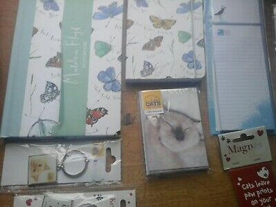 Note Books, Key Rings, Wholesale Joblot Greeting Cards