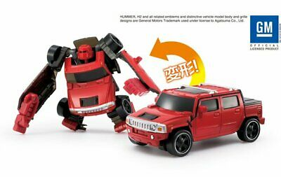 Agatsuma Diarobo GM #14 Hummer H2 SUT Red Transforming Robot Diecast Toy Car