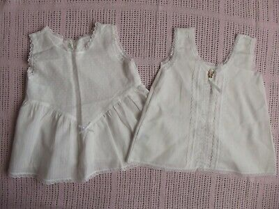Two Vintage Polycotton Baby Girl Petticoats - Boots & Mothercare - Age 6 Months
