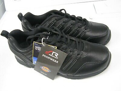 c510a0547584 Dickies Mens Apex Slip Resistant Work Shoes Leather Lace Up Black Size 8.5 W