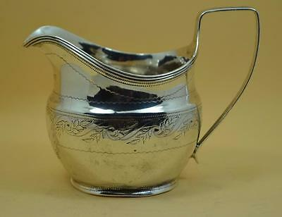 Georgian sterling silver cream milk jug Alice & George Burrows London 1807