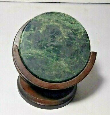Collectible Green Marble Coaster Set Unique Bar Decor