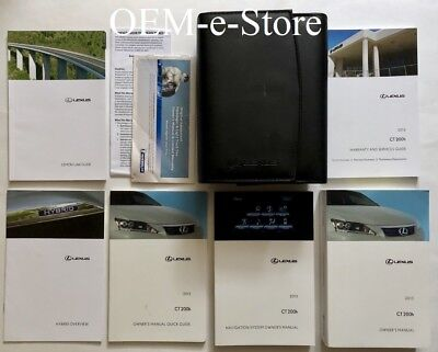 2013 Lexus CT 200h CT200h Hybrid Owners Manual + Navigation User Guide complete
