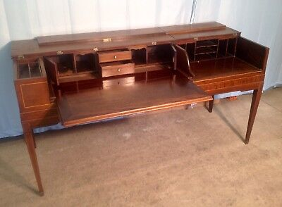 Antique Desk, Piano Converted To Desk, Desk Made From Piano, Piano Desk.