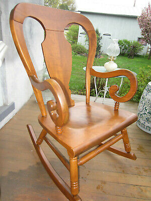 Vintage/Antique Maple Plank Back Rocking chair