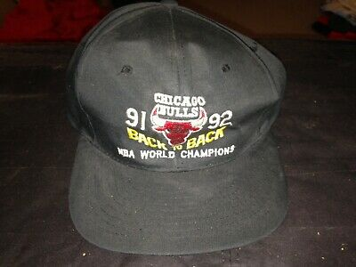 2ff7096fae0b5 Vintage Nissin Chicago Bulls Back to Back 91-92 NBA World Champions  snapback hat