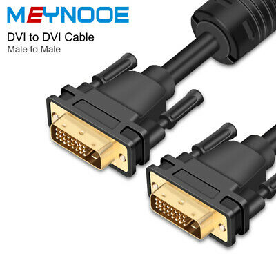 6FT 10FT 15FT DVI 24+1 Pin Dual Link DVI-D Male To DVI-D Maie Video Cable Gold