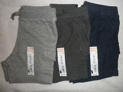 Jumping Beans Infant Boys Shorts size 18 months lot of 3 pairs grays and blue