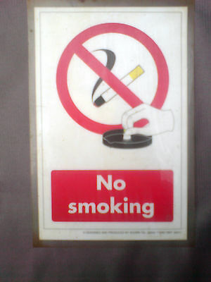 8,25x5.5 inches No Smoking plastic Sign