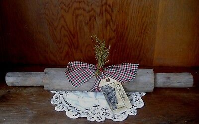 Antique Wooden Rolling Pin Primly Decorated w/ Pip Berries * Sweet Annie