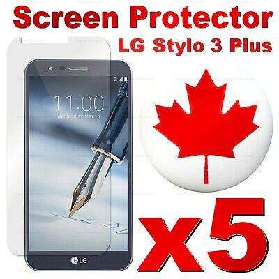 Premium Tempered Glass Screen Protector For LG Stylo 3 Plus | 2 Plus (5 PACK)