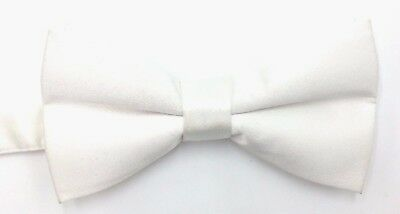 $124 MICHELSONS LONDON Mens ADJUSTABLE SOLID BLACK BOW TIE CLASSIC SILK BOWTIE