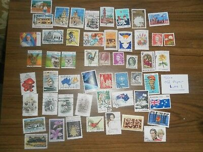 50+  used mixed AUSTRALIAN SHEET stamps off paper. Good variety. Lot 1