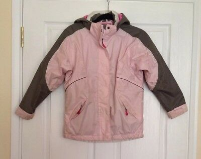 Girls Pink And Grey Skiing Anorak .Excellent quality gorgeous. Age 9-10.