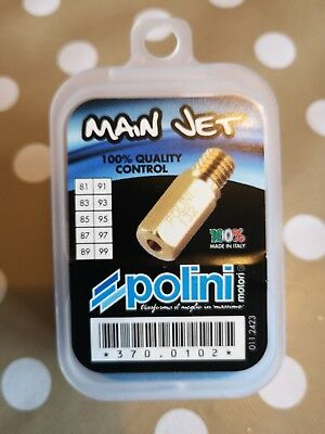 Polini Main Jet Kit 370.0102 New in Box 10 Jets 81-99 M5