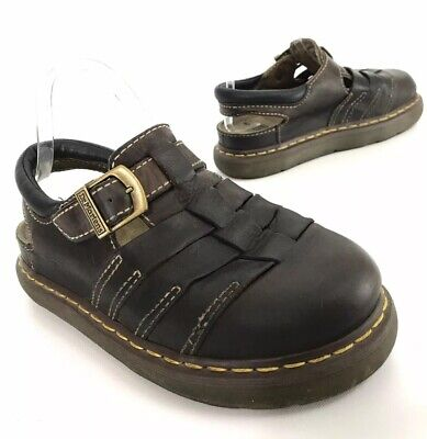 1f50a5a5e5b76 Dr Martens Mens Fisherman Sandals 8332 Closed Toe Brown Leather Size 8