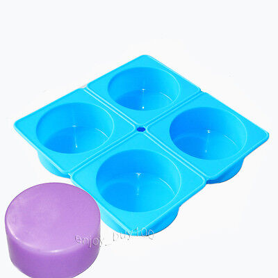 1 Round Cylinder Circle Soap Lotion Bar Silicone Mold Dia. 2.7inch 3.5oz / cell