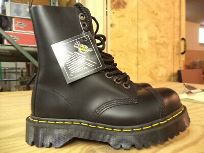 Mens Dr Martens 8761 Bxb 10 Eye Lace Up Cap Steel Toe Boot