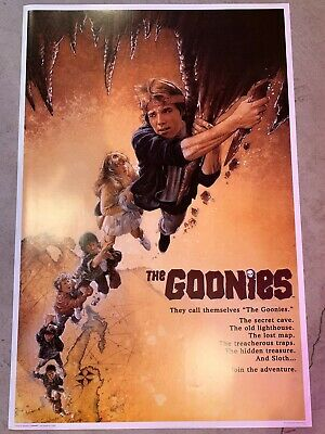 "THE GOONIES 1985 MOVIE POSTER *SPIELBERG* brand new rolled. 24""x36"""