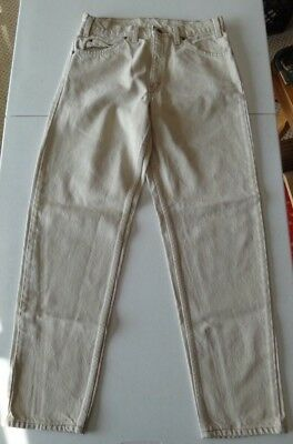 d92cf8a0 Vintage Levis 550 Tan Jeans 31x30 Made In USA Zipper Fly Tapered Leg  Relaxed Fit