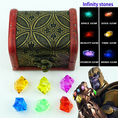 The Avengers Endgame Infinity stones Set Of All 6 Gems Toy Cosplay Props Gift N5
