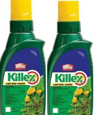 2 Bottles Ortho Killex Lawn Weed Killer Control Herbicide Concentrate Kill Weeds