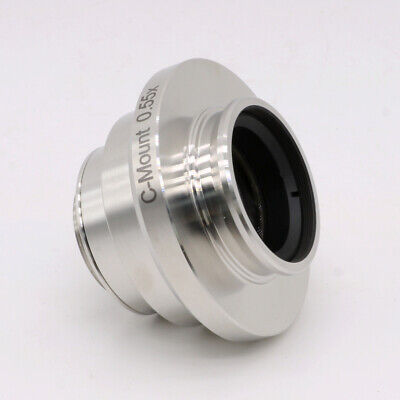 0.55x adjustable C-mount Camera Adapters Relay Lens for Leica Microscope