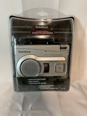 Radio Shack CTR-122 Voice Activated Cassette Tape Recorder 140-1129 NEW