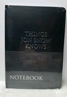 Game of Thrones Things Jon Snow Knows Journal Notebook CultureFly Walmart RARE