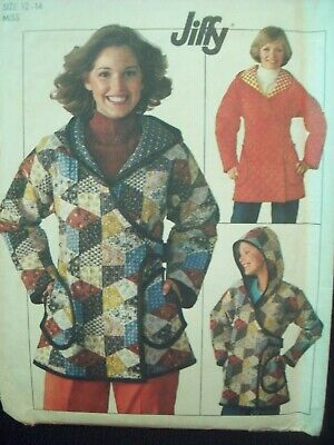 Vintage Simplicity Pattern 7651 Easy Sew Hooded Jacket Sizes 12-14 UC/FF NOS
