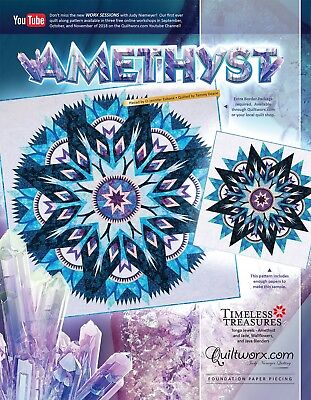 "Amethist Paper Pieced by Judy Niemeyer 91"" Quilt Pattern New for 2018"