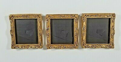 "Vintage Ornate Style Resin Mini Magnetic Picture Frames 3"" X 2-3/4"" Lot of 5"
