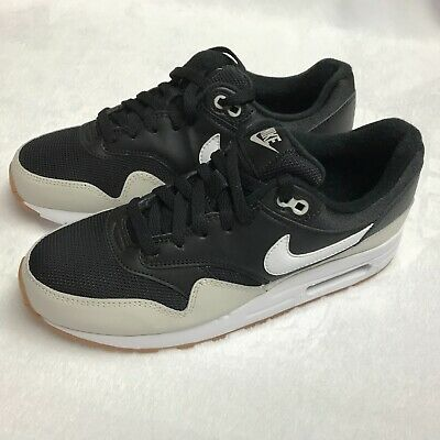 Details about Nike Air Max 1 Big Kids' Shoes BlackWhiteLight BoneGum Med Brown 807602 011