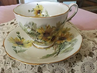 Royal Standard Bone China  Cup And Saucer England    Brown Eyed Susan Pattern