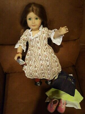 American Girl Felicity Merriman DOLL (mid 90's) shoes socks Purse extra outfit
