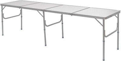 8 Foot Table Folding Picnic Camping Aluminum Large Tabletop Outdoor Furniture