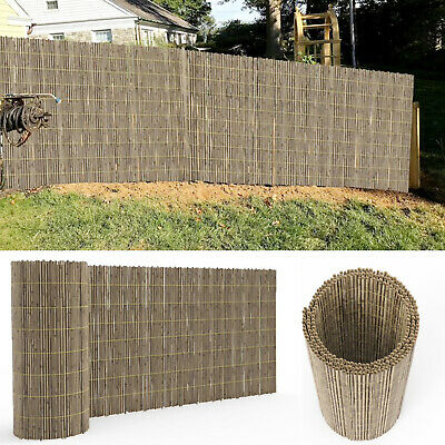 Bamboo Peeled Reed / Slat Screening Fence Roll Garden Privacy Decor Penal 4m New