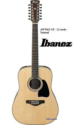 IBANEZ AW7012-NT  CHITARRA ACUSTICA NATURAL 12 CORDE serie Artwood