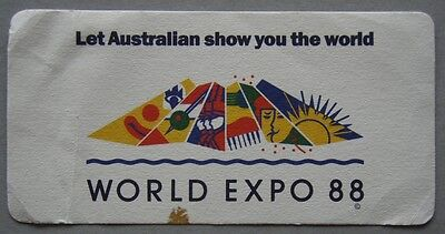World Expo 88 Let Australian Show You The World Coaster