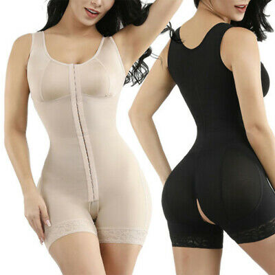 Womens Compression Full Body Shaper Shapewear Firm Tummy Control Bodysuit S-3XL