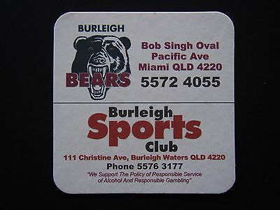 Burleigh Bears Sports Club Coaster