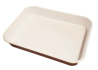 KB3 Kabi Plastic Deep White Catering Tray Pack of 10